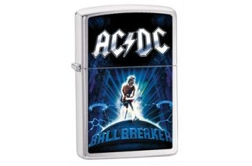 Zippo ACDC Ballbreaker Classic Style Lighter, Brushed Chrome 28020
