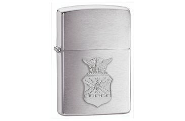 Zippo Air Force Crest Classic Style Lighter, Brushed Chrome 280AFC
