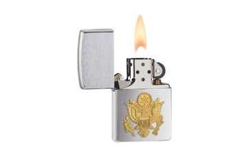 Zippo Army Classic Style Lighter, Brushed Chrome 280ARM