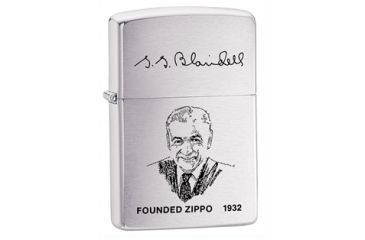 Zippo Founder Classic Style Lighter, Brushed Chrome 200FL