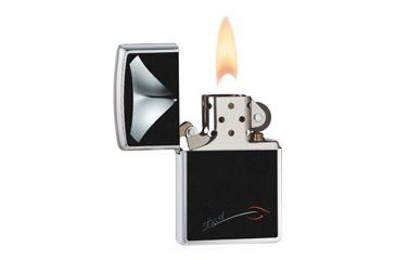 Zippo Decolletage Classic Style Lighter, Brushed Chrome 28273