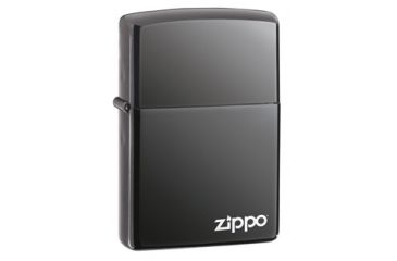 Zippo Classic Style Lighter w/ Zippo Logo, Black Ice 150ZL