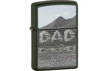 Zippo Dad Mountains Green Matt Lighter ZO28375