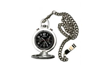 Zippo Dress Classic Style Pocket Watch, Black Dial & Stainless Steel Chain & Buckle 45021