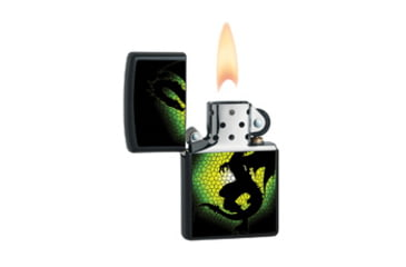 Zippo Triptych Dragon 3 Classic Lighter, Black Matte 28135