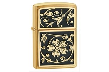 Zippo Gold Flourish Classic Style Lighter, Brushed Brass 20903