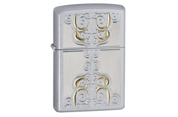 Zippo Golden Scroll Classic Style Lighter, Satin Chrome 24906