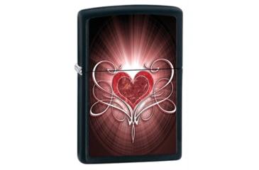 Zippo Heart Classic Style Lighter, Black Matte 28043