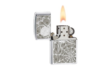 Zippo Hidden Spider Classic Lighter, High Polish Chrome 28052