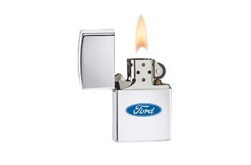 Zippo Ford Oval Classic Style Lighter, High Polish Chrome 250F957