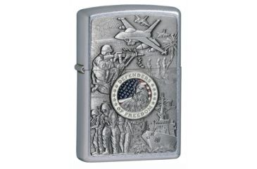Zippo Joined Forces Classic Style Lighter, Street Chrome 24457