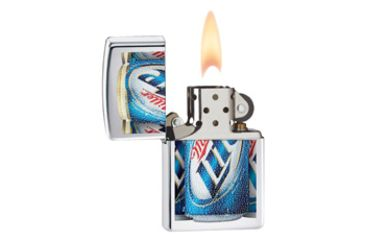 Zippo Miller Lite Cans Classic Style Lighter, High Polish Chrome 28250