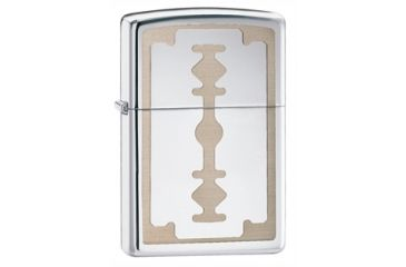 Zippo Razor Blade Classic Style Lighter, High Polish Chrome 28137