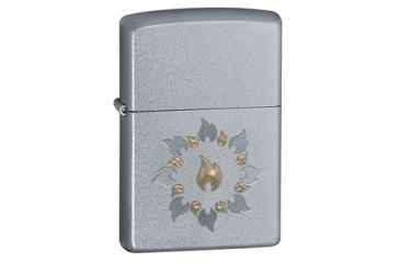 Zippo Ring Of Fire Classic Style Lighter, Satin Chrome 21192