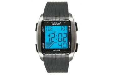 Zippo Sport Digital Adventure Chronograph Watch w/ Black Polyrethane Strap 45016
