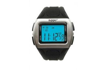 Zippo Sport Digital Contemporary Chronograph Watch w/ Black Polyrethane Strap 45017