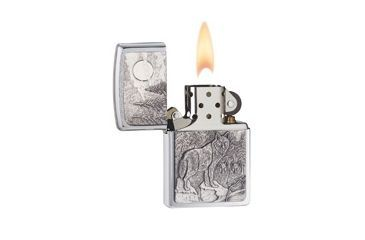 Zippo Timberwolves Classic Lighter, Brushed Chrome 20855