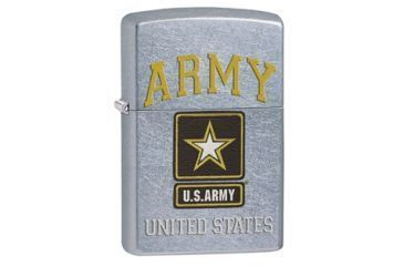 Zippo U.S. Army Street Chrome Lighter 28753