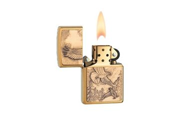 Zippo Where Eagles Dare Classic Lighter, Brushed Brass 20854