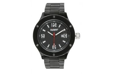 Zippo Work Classic Solid Stainless Steel Watch, Black Dial & Black Solid Stainless Steel Band 45007