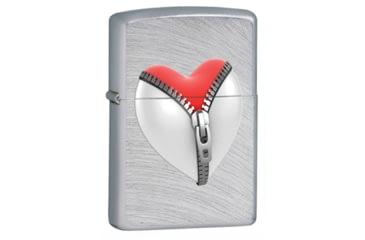 Zippo Zip Heart Classic Style Lighter, Chrome Arch 28327