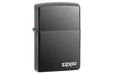 Zippo Zipped Classic Style Lighter, Black Ice 28326