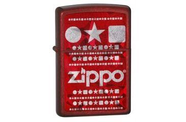 Zippo Logo Classic Style Lighter w/ Zippo Logo, Candy Apple Red 28342