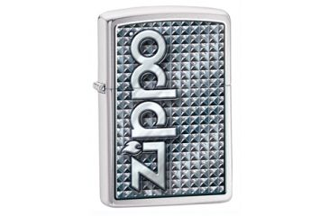 Zippo 3D Abstract 1 Classic Style Lighter, Brushed Chrome 28280