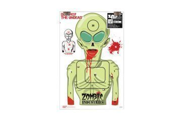 Zombie Industries Marty Martian Alien Zombie Colossal Paper Targets 24x36 Inch 10 Per Package