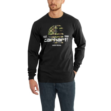 NEW Men's Carhartt Lubbock Graphic Made T Shirt Gray Navy Red L XL or 2XL