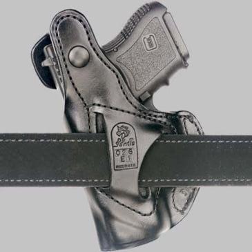 DeSantis 067BAE1Z0 SOB Belt Holster Black Leather RH for Glock 26