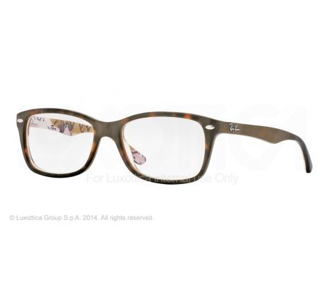 ray ban eyeglass frames warranty  opplanet ray ban eyeglass frames rx5228 5409 50 top havana on texture camuflag frame