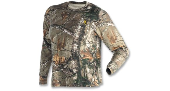 d7c66b80a61a9 Browning Hells Canyon Basics Long Sleeve T-Shirt, Realtree Xtra, M  3015242402