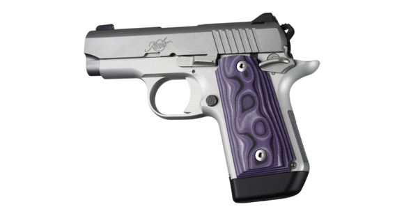 Hogue Kimber Micro 9 Ambidextrous Grip, Smooth, G10, Purple Lava, 39748