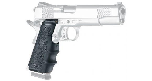 Hogue Laser Enhanced Grip - Govt  Model Rubber Grip with Finger Grooves  Black