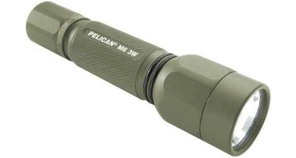 Elegant Pelican 2390 M6 3 Watt LED Machined Aluminum Tactical Flashlight OD Green Minimalist - New best tactical flashlight New Design