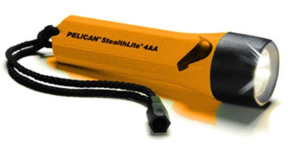 Pelican Stealthlite 2400 Xenon 4AA Flashlight, Orange w/ Batteries 2400C —  Color: Orange, Battery Type: 2400C — 2400-010-150
