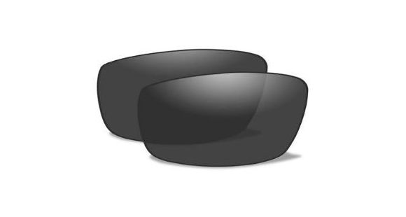 edc0b678d5e0 Wiley X WX Censor Replacement Parts - Polarized Smoke Grey Lens Only,  SSCENPS — Lens Color: Polarized Smoke Grey, Age Group: Adults, Polarized:  Yes, ...