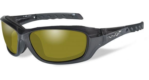 a15aa406e8cb Wiley X WX Gravity Sunglasses - Polarized Yellow Lens   Black Crystal Frame