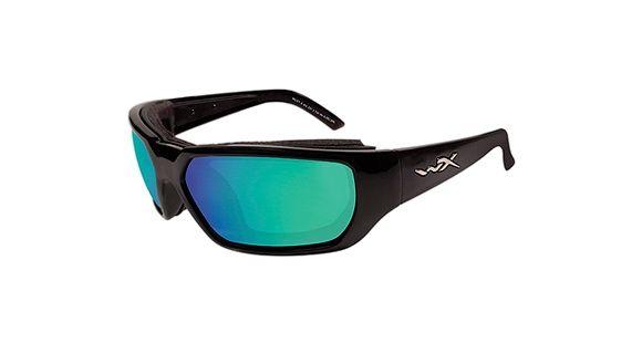 8a8de6dda5e Wiley X Rout Climate Control Sunglasses - Gloss Black Frame w  Polarized  Emerald Mirror Lens