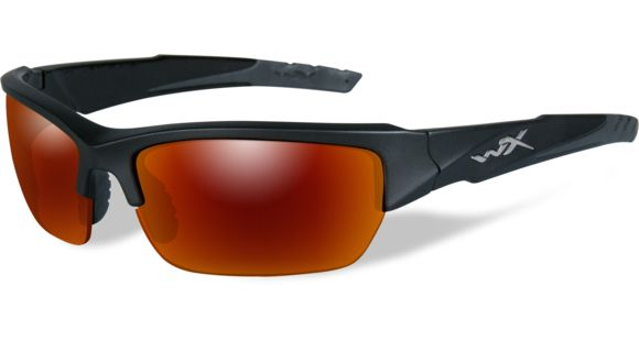 Wiley X WX Valor Sunglasses - Polarized Crimson Mirror w Smoke Grey Lens    Black 2 Tone Frame 9cd1461720