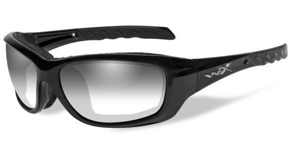 016c98a5b3 Wiley X WX Gravity Sunglasses - LA Light Adjusting Smoke Grey Lens   Gloss  Black Frame