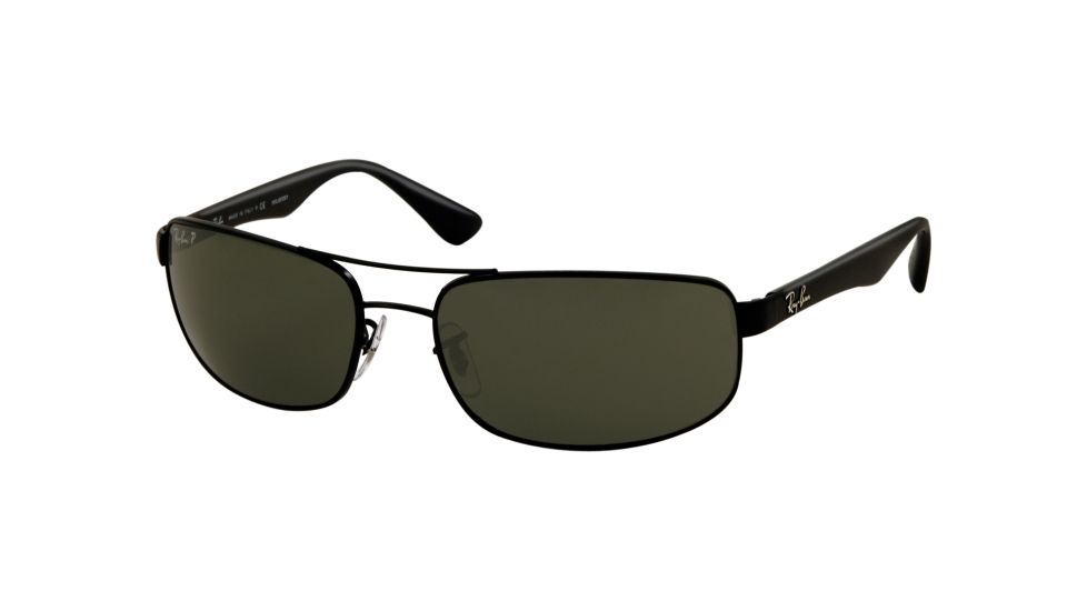 cfd1fde6099 ... ray ban rb3044 aviator sunglasses black frame crystal deep green ...