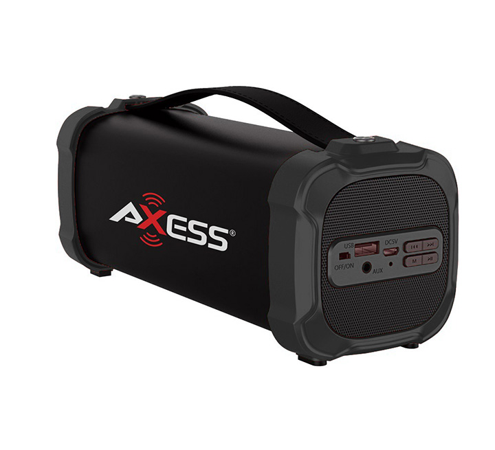AXESS Indoor/Outdoor Bluetooth Media Speaker w/ 10.10mm Line-In Jack,  Rechargeable Battery and Subwoofer