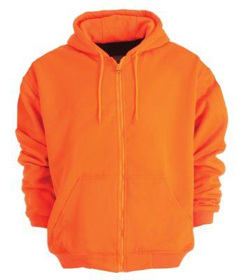 Berne Enhanced Visibility Hooded Sweatshirt Mens Orange Yellow Up To 14 Off