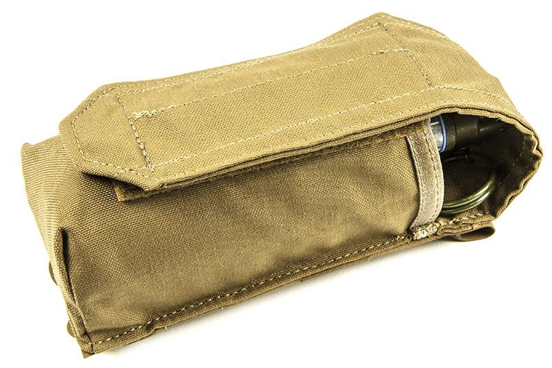 Blue Force Gear Single Smoke Grenade Pouch in Wolf Grey BLUE-HW-M-SMOKE-1-WF