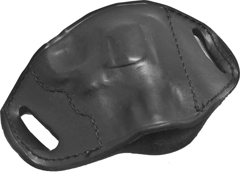 Bulldog MLBS Small Right Hand Molded Leather Belt Slide Holster