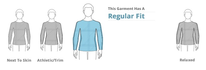 Mens Tops Clothing Fit: Regular Fit