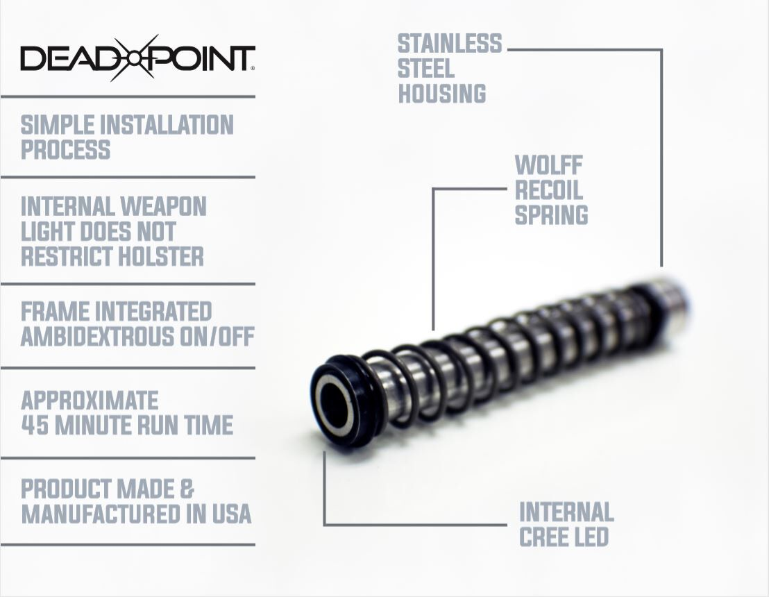 DeadPoint Glock 19/23 Guide Rod Housed Weapon Light