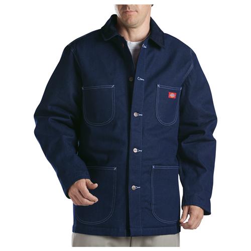 Dickies Mens Denim Blanket Lined Chore Coat